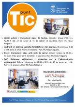 Formacions de gener i febrer 2017 al Punt TIC Palau Falguera