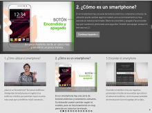 """Imatge de la plataforma """"Fundacion Vodafone con los mayores"""""""