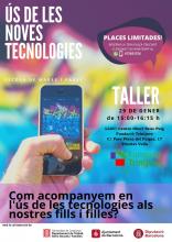 Cartell del taller d'ús de les noves tecnologies de la Fundació Trini Jove