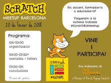 Cartell de la 8a trobada ScratchEd Meetup Barcelona