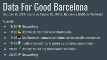 Data for Good Barcelona
