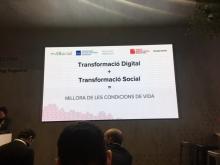 Presentation of the Taula d'entitats del Tercer Sector Social de Catalunya in MWC18