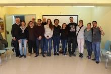 Foto de grup dels i les participants de la trobada territorial de Ripoll