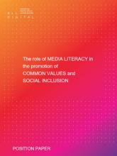Portada de l'informe de posició sobre alfabetització mediàtica d'ALL DIGITAL