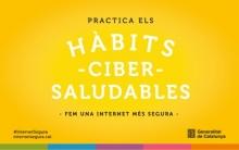 """Imatge de la campanya """"Aquest estiu...#CiberHàbits"""" de Internet Segura"""