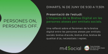 Esdeveniment virtual: La Bretxa Digital en les persones ateses per entitats socials