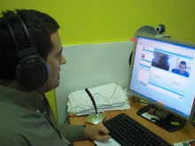 Imatge de la multivideoconferència entre punts