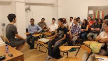 Alumnes del Fit4Jobs visitant un espai de coworking