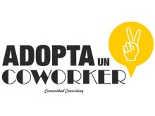 """Logo de la campanya """"Adopta un coworker"""""""