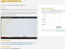 Captura de la plana web AgendaOberta