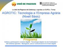 Cartell de la formació AgroTIC a Tremp