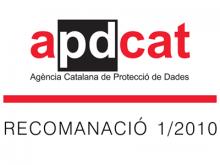 APDCAT Recomanació 1/2010