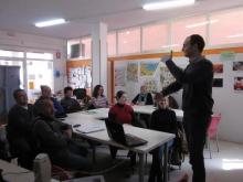 Una classe al Punt TIC Aula Pasqual Ollé de La Palma