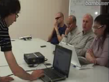 Streaming la formació de formadors sobre treball amb persones amb discapacitat visual