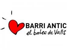 """Imatge amb un cor i amb el text """"Barri Antic, el batec de Valls"""""""