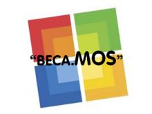 Logotip del programa Beca.MOS