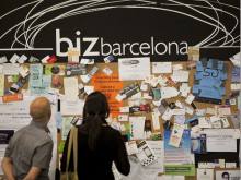Visitants al saló Biz Barcelona