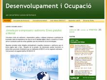 Captura de la plana web DESOC