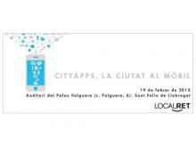 """Jornada """"Cityapps, la ciutat al mòbil"""""""