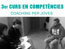 """Part del cartell de la tercera edició del curs """"Competències: coaching per Joves"""""""