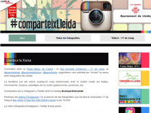 Captura de la plana web #comparteixLleida