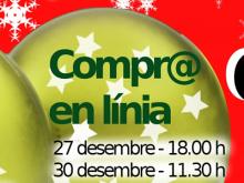 Compr@ en línia - Part del cartell de tallers TIC de Nadal