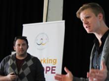 Els gestors d'Indyhall a la Coworking Europe Conference