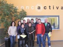 Participants del programa Connecta't a Concactiva de Montblanc