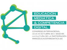 Logotip del Congrés d'Educació Mediàtica i Competència Digital
