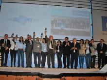 Lliurament de premis al I Congrés de Telecentres. Imatge de la galeria de Flickr de l'Asociación Comunidad de Redes de Telecentros