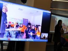 Connexió en directe amb la classe 6è B de l'escola d'O Porriño