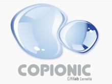 Logotip de l'eina Copionic, són dues gotes d'aigua