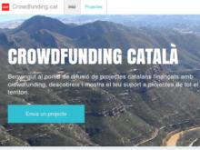 Plana web de Crowdfunding.cat