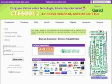 Captura de pantalla de la plana web del CTES 2012