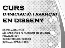 Part del cartell dels cursos de disseny gràfic al Punt TIC del Solsonès
