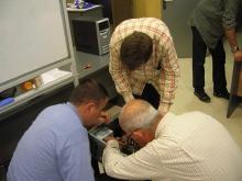 Foto del curs de reparació d'ordinadors a l'e-centre Tremp