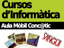 Cartell del cursos d'informàtica de l'aula mòbil Conc@tic