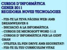 Llistat dels cursos que oferirà el Punt TIC de Gelida