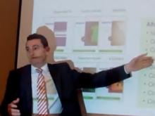 Imatge de la conferència del director d'Idigital, Daniel Marco, a Valls