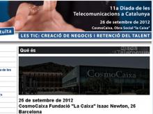Captura de la plana web de la Diada de Telecomunicacions 2012