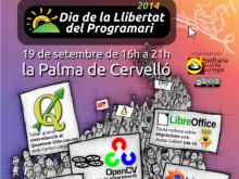 Cartell del Dia del Programari Lliure a la Palma de Cervelló