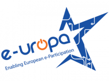 Logotip del projecte Enabling European e-Participation