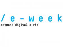 Logotip de l'eWeek, setmana digital de Vic
