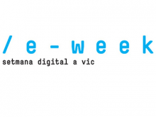 Logotip de l'eWeek, setmana digital de Vic