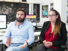 Fotograma de l'entrevista el vídeo a Manuel Zea i Laura Martín de CoworkingSpain