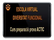 Escola Virtual Diversitat Funcional - Curs ACTIC