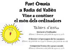 Part del cartell dels tallers d'estiu de Badia