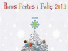 Part de la postal de nadal del Telecentre de Ribera d'Ebre