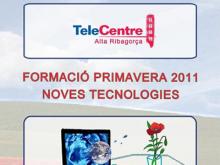 Part del cartell del programa de primavera 2011 del Punt TIC de l'Alt Urgell
