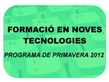 Part del cartell de la programació de primavera 2012 del Punt TIC de l'Alta Ribagorça